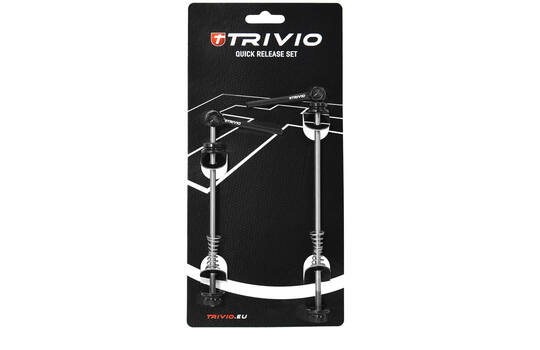 QUICK RELEASE SET TITANIUM AXLE BLACK ROAD 1