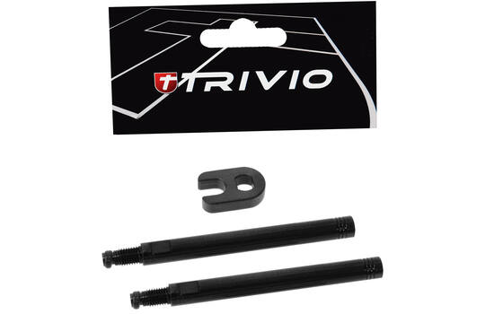 VALVE EXTENSION SET BLACK 70MM + TOOL