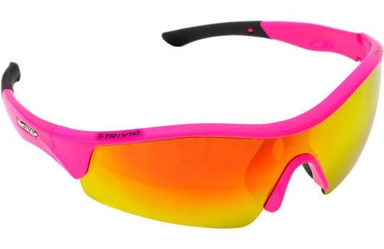 Bril Vento Fluo Pink Met 2 Extra Lenzen - Trivio