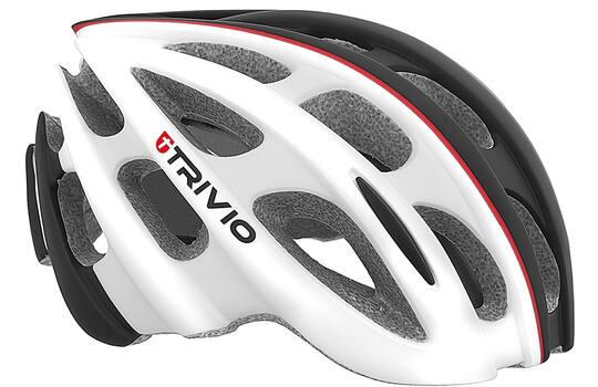Helm Cirrus White/black/red 51-54cm - Trivio