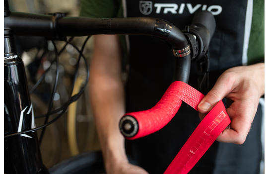 HANDLEBAR TAPE CARBON RED 1