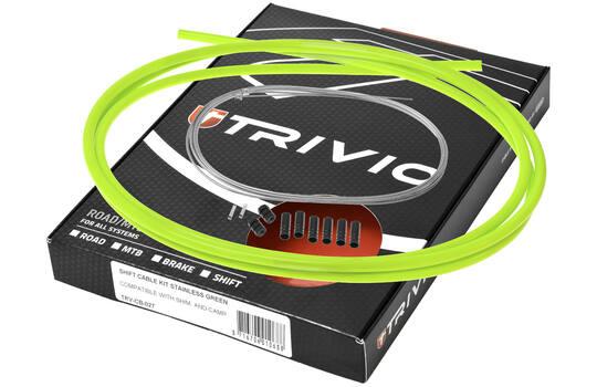 Kabelkit Compleet Derailleur Rvs - Groen - Trivio