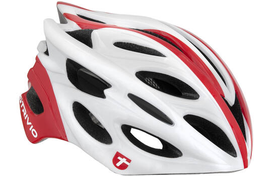 HELMET RIDGE WHITE/RED 58-61CM
