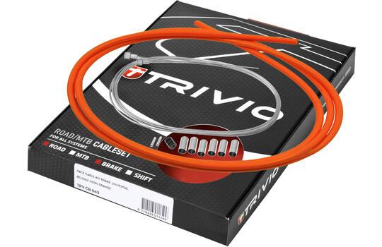 Kabelkit Compleet Rem Race Rvs - Neon Oranje - Trivio