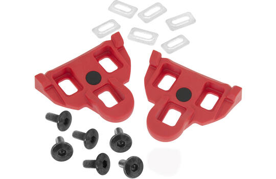 CLEATS SHIMANO SPD-SL COMPATIBLE RED 4.5°