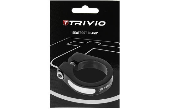 SEATPOST CLAMP ALLOY BLACK 31.8MM 1