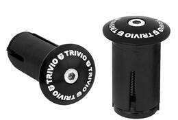 HANDLEBAR PLUG RACE ALUMINIUM BLACK 2PC.