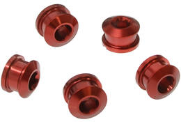 CHAINRING BOLT SET ROAD 9.9X4.05 RED ANODIZED